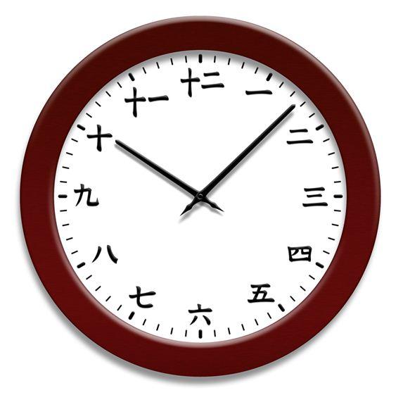 漢字の時計 Clock with Chinese characters