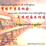 有缘千里来相会 Fate Brings People Together