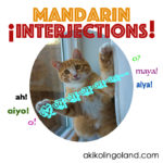 Hey! 12 Mandarin Interjections For You!